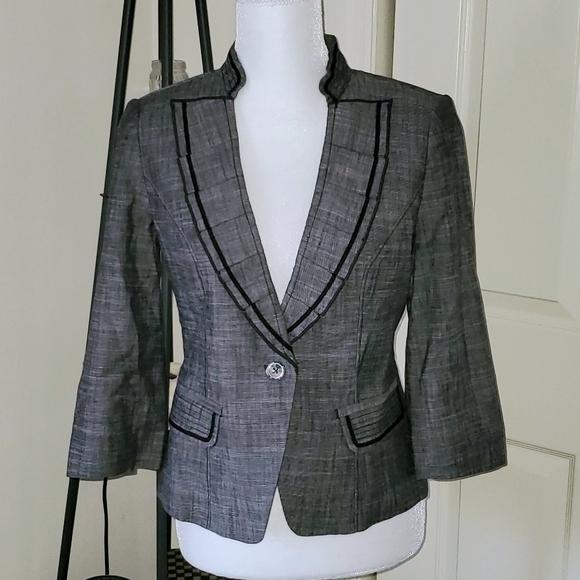 WHBM Linen Blend Jacket/Blazer Sz 4 EUC!